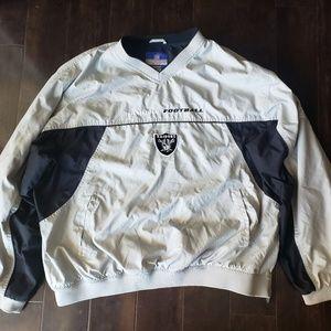 Raiders Reebok Pullover Windbreaker Jacket